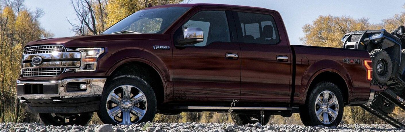 2019 Ford F-150 in maroon