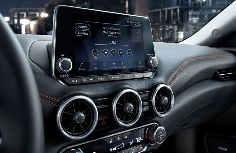 2020 Nissan Sentra touch screen view
