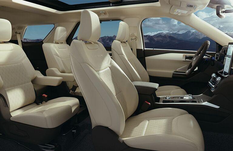 2021 Ford Explorer tan interior seats