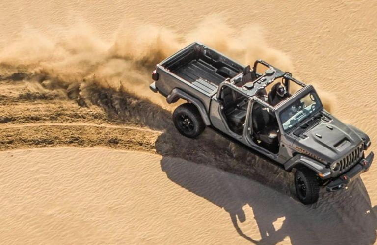 2021 Jeep Gladiator on sand