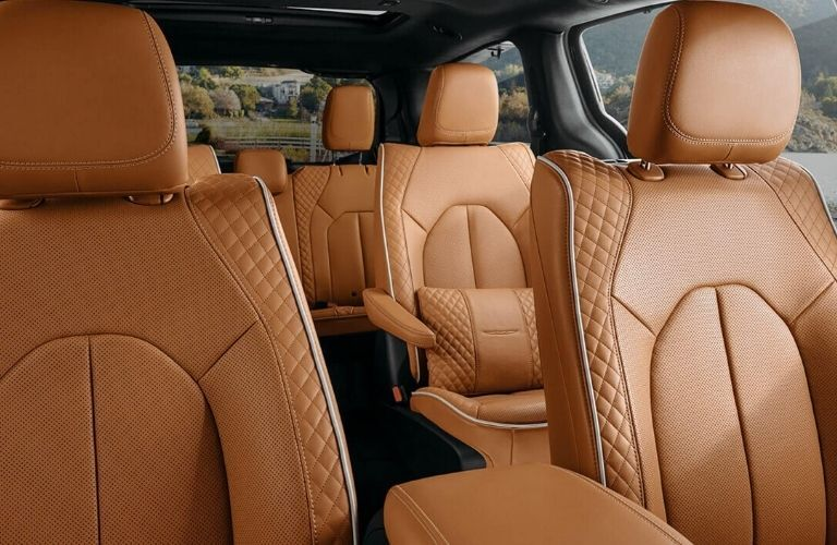 2021 Chrysler Pacifica interior with beige seats