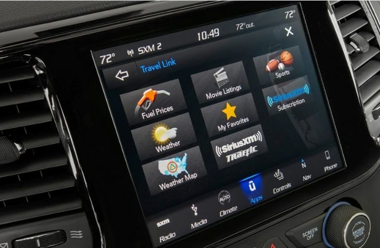 touchscreen display of the 2021 Jeep Grand Cherokee