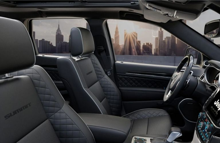front seat view of the 2021 Jeep Grand Cherokee