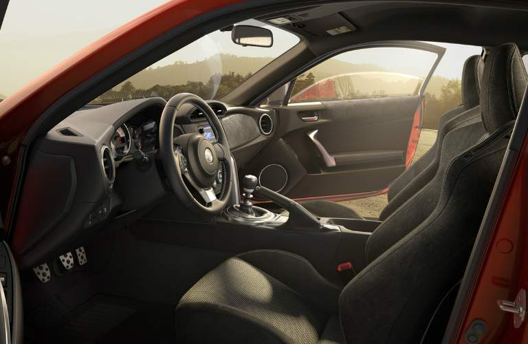 Dashboard and Black Front Seats of 2018 Toyota 86