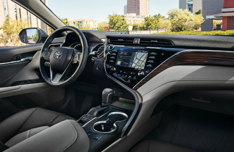 Dashboard and Grey Front Seats in 2019 Toyota Camry