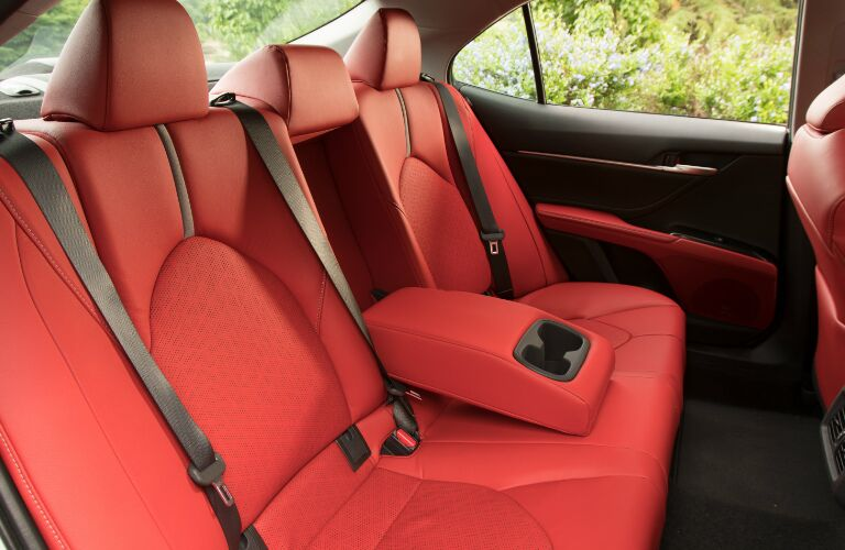 Red 2nd-Row Seats in 2019 Toyota Camry
