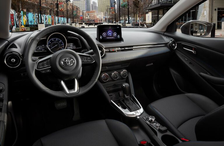 Dashboard and Black Seats of 2019 Toyota Yaris Sedan