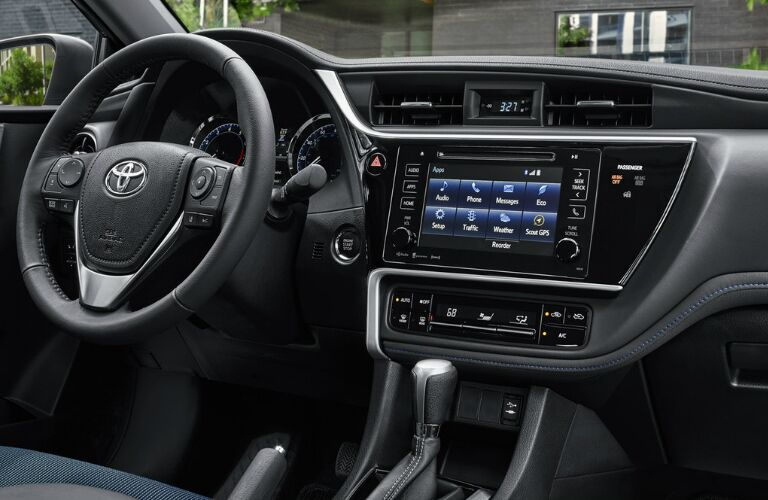 Steering Wheel, Gauges, and Touchscreen of 2019 Toyota Corolla
