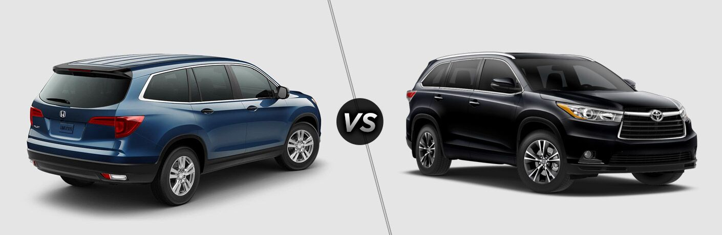 2017 honda pilot vs 2017 toyota highlander for Honda crv vs toyota highlander