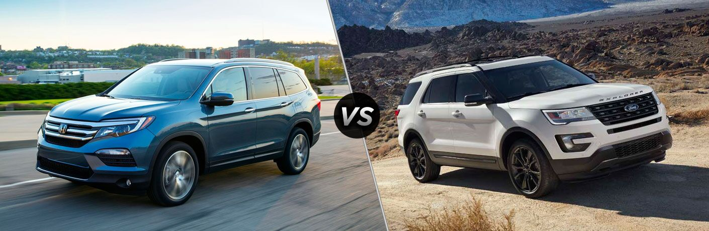 2017 Honda Pilot vs 2017 Ford Explorer