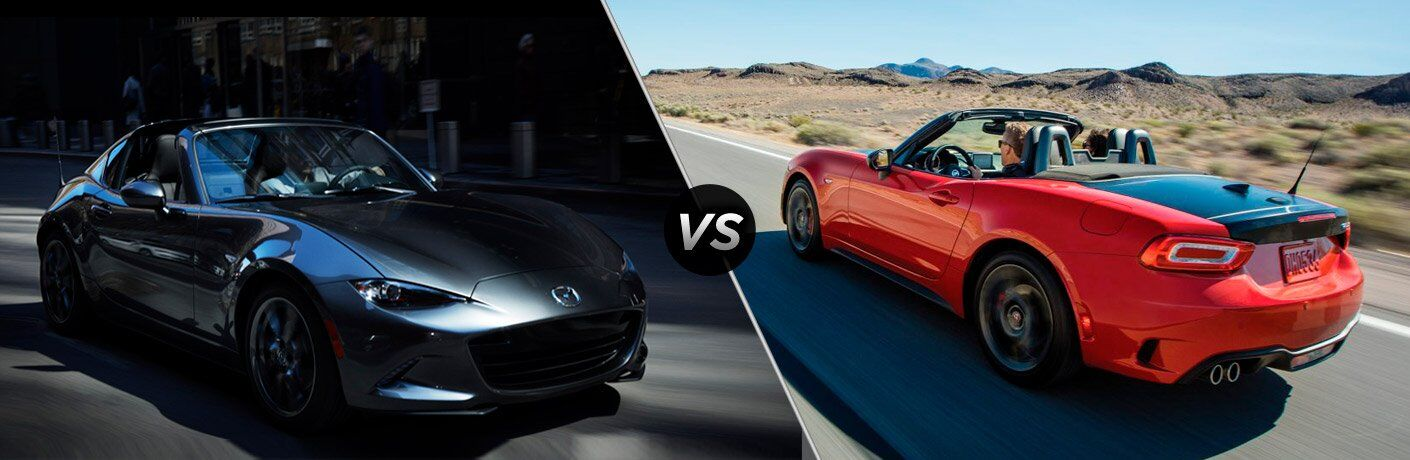 2017 Mazda MX-5 Miata RF vs 2017 Fiat 124 Spider