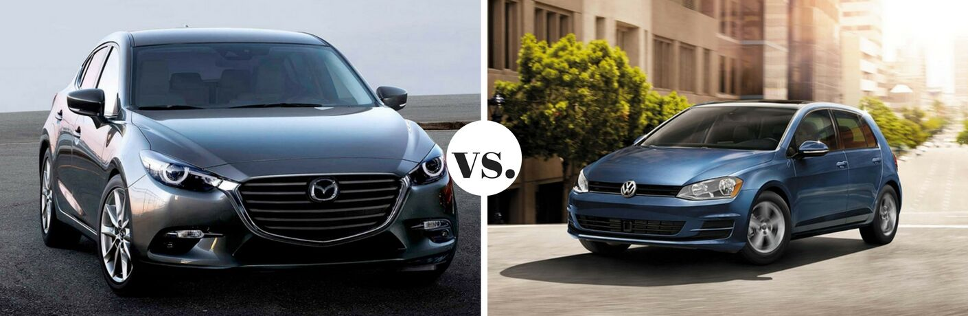2017 Mazda3 Hatchback vs 2017 Volkswagen Golf