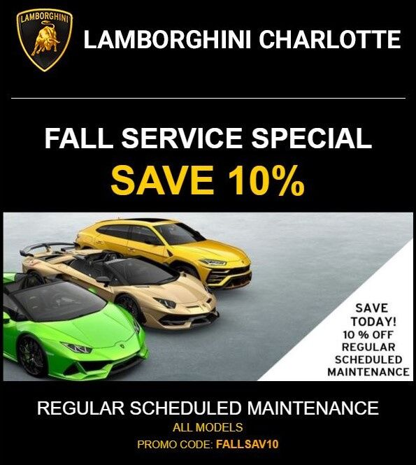 Factory Scheduled Maintenance Special 10% Off