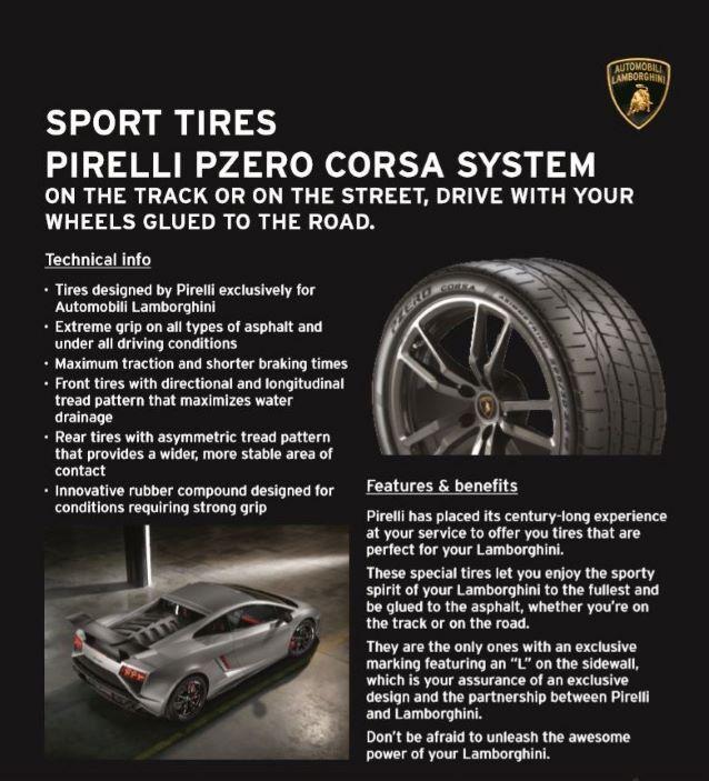 Pirelli Sport Tires