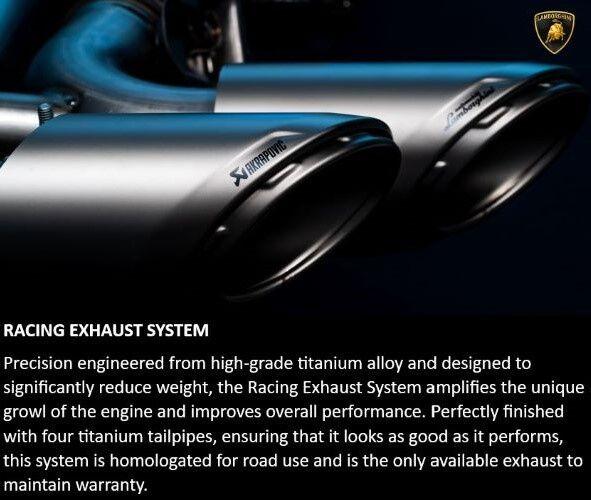 Urus Racing Exhaust