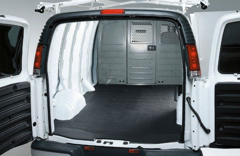 2017 GMC Savana Cargo Van Empty Interior