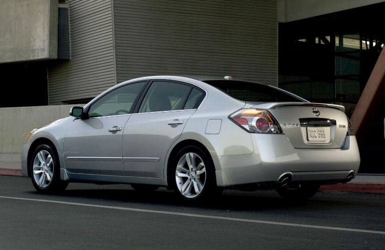 silver 2012 Nissan Altima exterior rear side parked