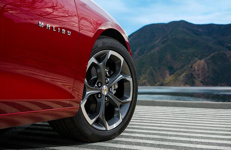 red 2019 Chevrolet Malibu wheel