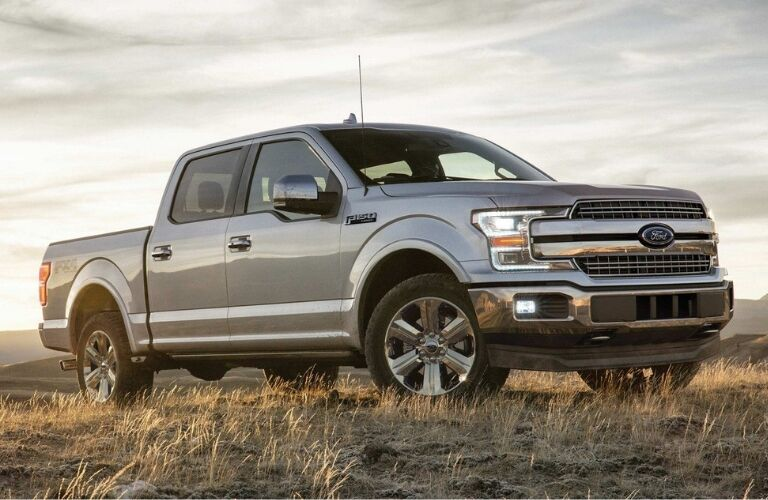 Silver Ford F-150 In Field