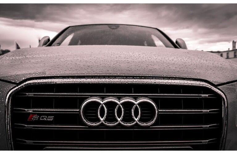 close up Audi front grille