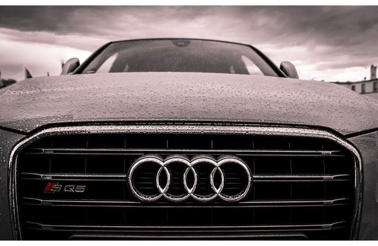 close up Audi front grille