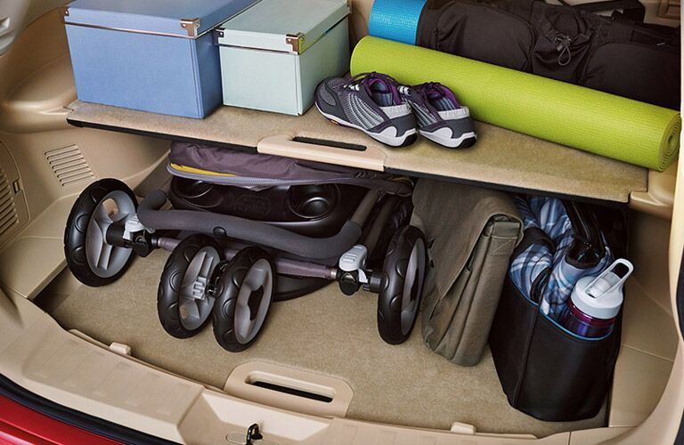 Under-rear-cargo-storage 2016 Nissan Rogue Schaumburg Chicagoland IL