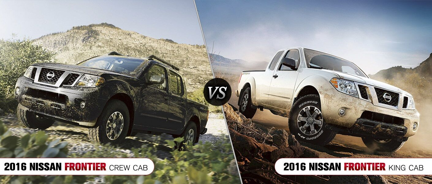2016 Nissan Frontier Crew Cab vs. 2016 Nissan Frontier King Cab Arlington Heights IL