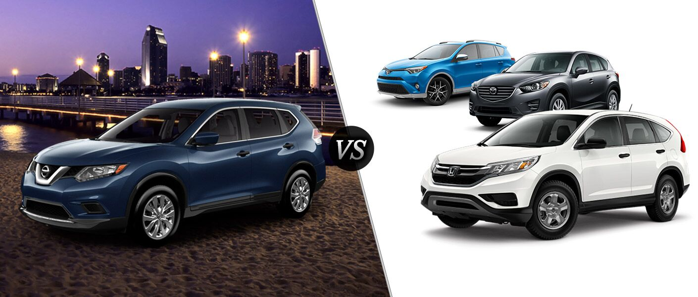 2016 Nissan Rogue vs. 2016 Honda CR-V vs. 2016 Mazda CX-5 vs. 2016 Toyota RAV4