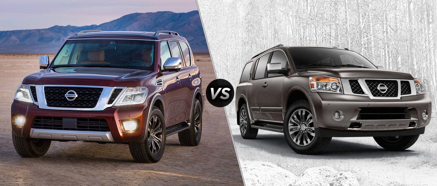 2017 Nissan Armada vs 2015 Nissan Armada full-size SUVs Chicagoland IL