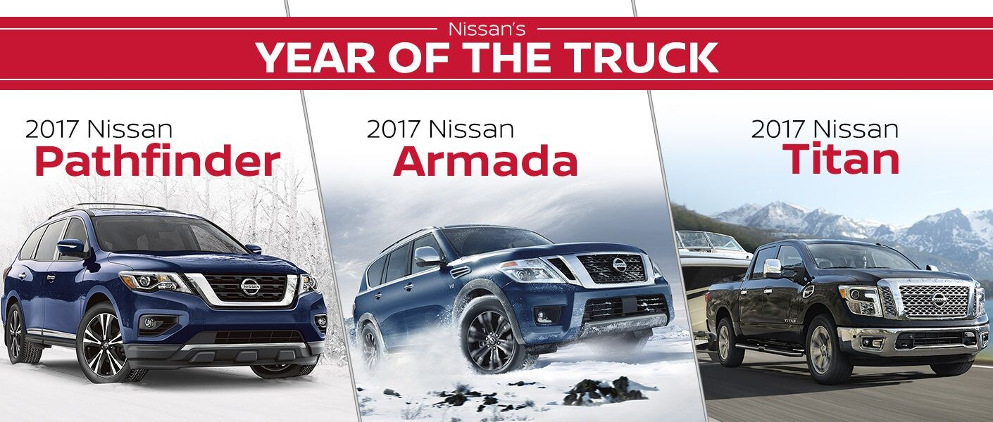 Nissan Year of the Truck 2017 Pathfinder Armada Titan Chicago Arlington Heights IL