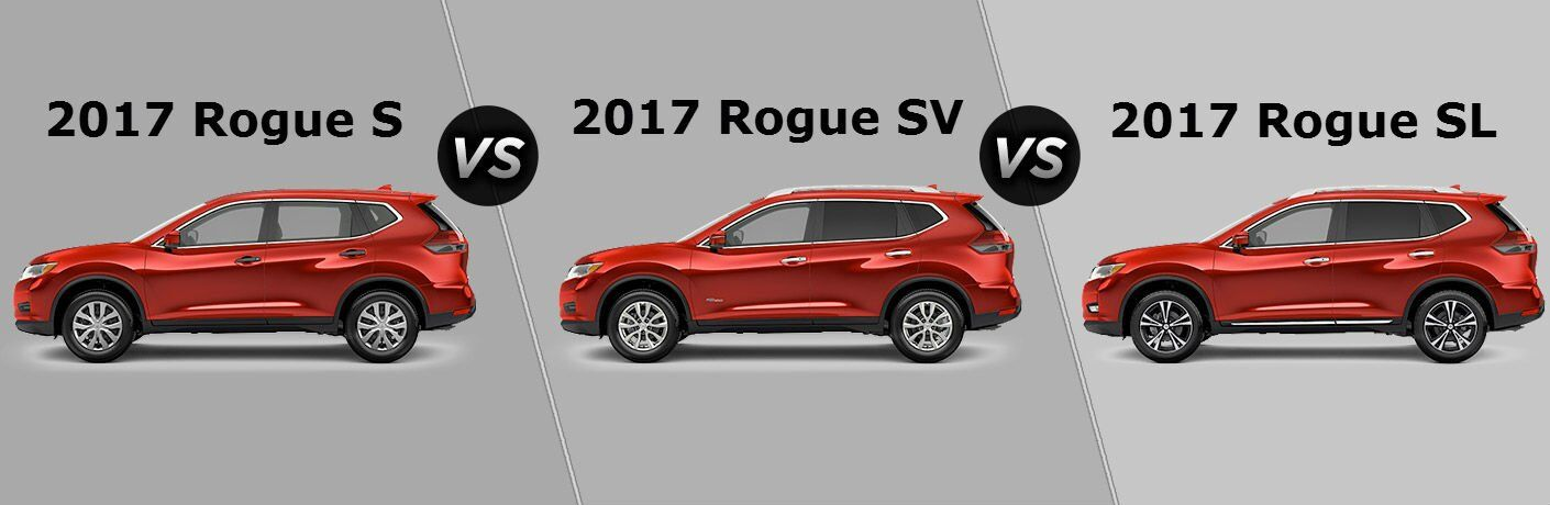 2017 Nissan Rogue trim levels S SV SL Chicagoland IL