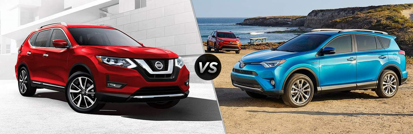 2017 Nissan Rogue vs. 2017 Toyota RAV4 crossovers