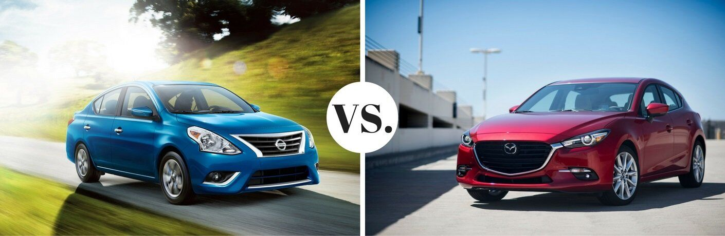 2017 Nissan Sentra vs. 2017 Mazda3 4-door model