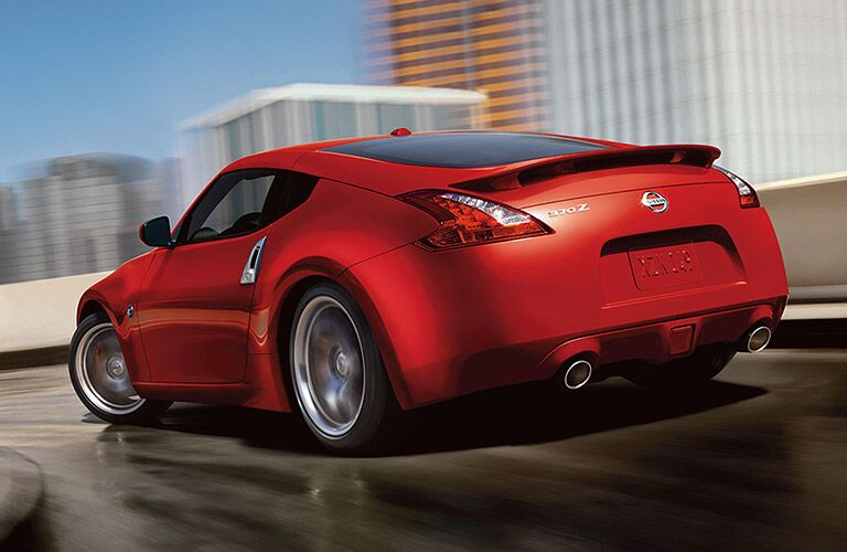 2017 Nissan 370Z Red Back View