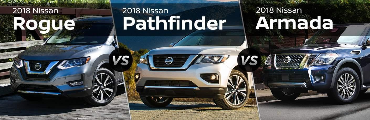 2018 Nissan SUVs Armada Pathfinder and Rogue