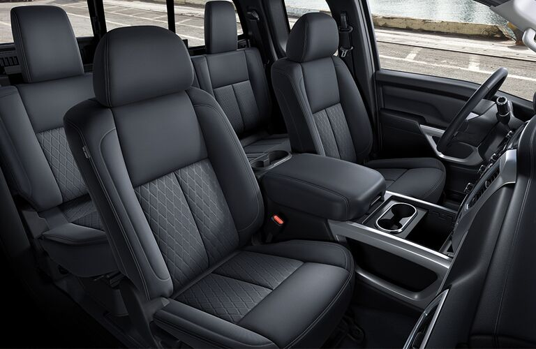 front and rear seats of 2018 nissan titan xd