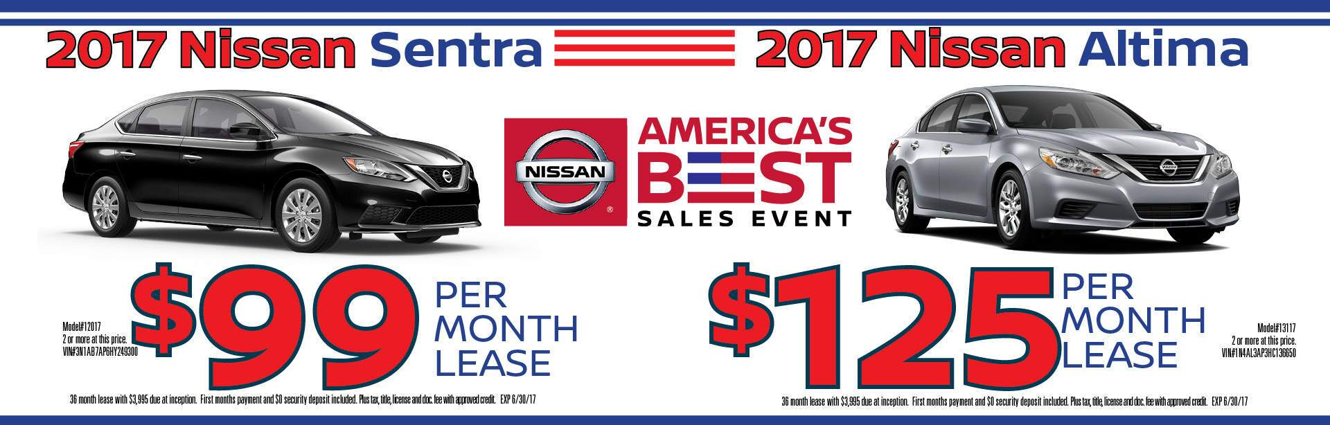 America's Best sales event for 2017 Altima Rogue Sentra and Murano Chicago IL