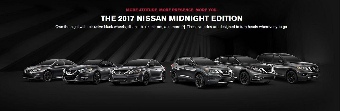 2017 Nissan Midnight Edition models Altima Sentra Pathfinder