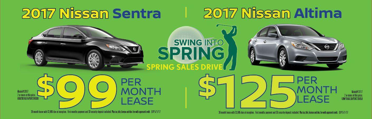 Swing Into Spring 2017 Nissan Altima sedan Sentra compact Chicago IL