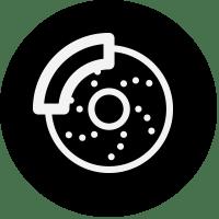 black icon car brake pad