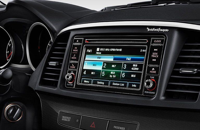 2017 Mitsubishi Lancer infotainment screen