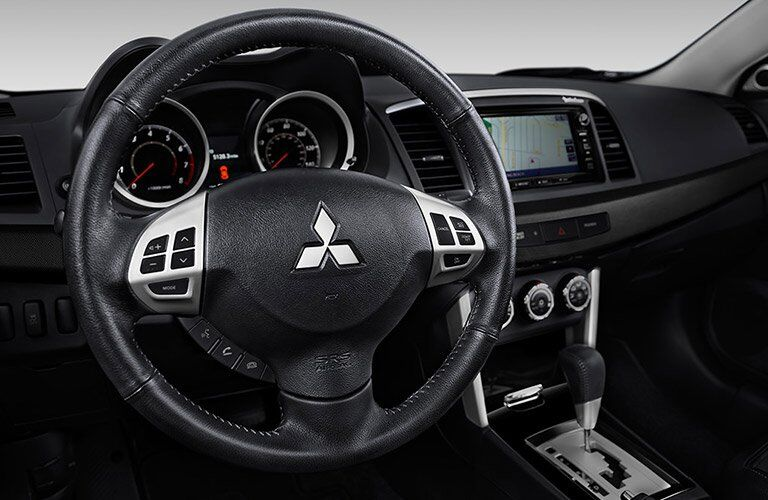 2017 Mitsubishi Lancer steering wheel and controls