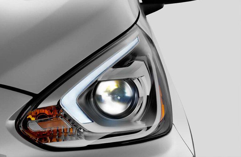 2017-Mitsubishi Mirage headlight closeup