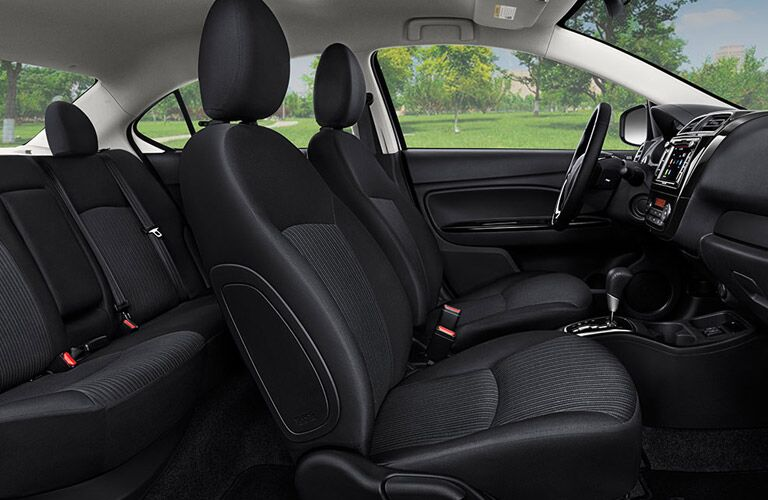 2017 Mitsubishi Mirage G4 vs 2017 Ford Fiesta Interior