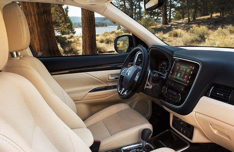 2017 Mitsubishi Oultander leather interior