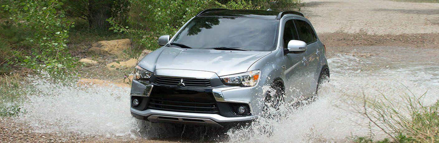 2017 Mitsubishi Outlander Sport splashing through water
