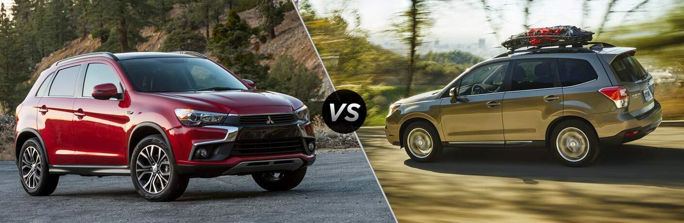 2017 Mitsubishi Outlander vs 2017 Subaru Forester