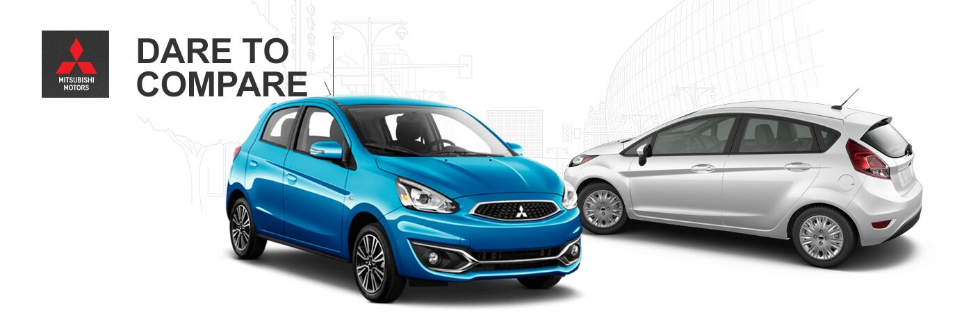 2017 Mitsubishi Mirage and Ford Fiesta exteriors