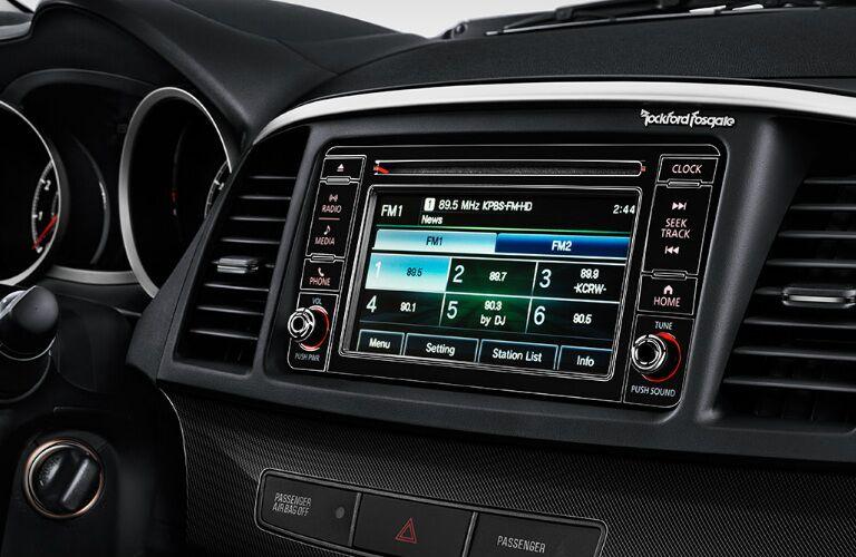 2017 Mitsubishi Lancer audio screen