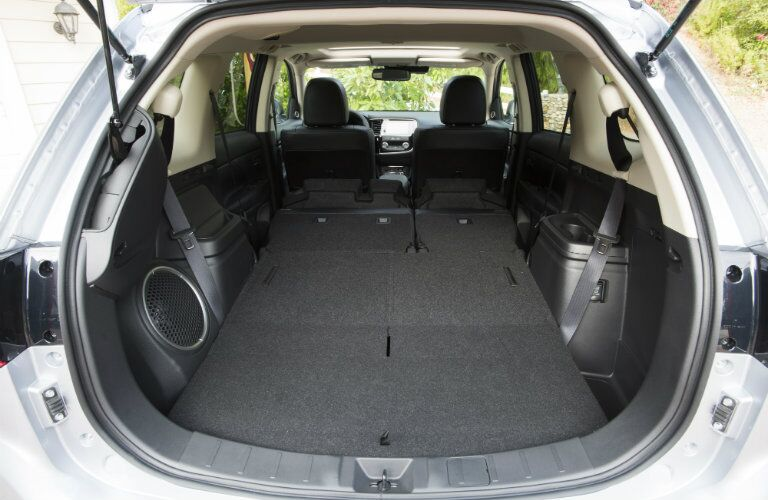 2017 Mitsubishi Oultander cargo areas all seats folded